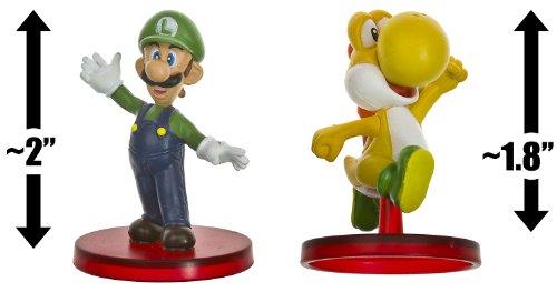 "Luigi (~2"") & Yellow Yoshi (~1.8""): Super Mario Dual Mini-Figurine Collection Series"