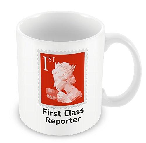 """First Class Reporter-Tazza """", colore: rosso"""