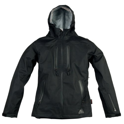 Cox Swain women Titanium hard shell jacket Hurrican 15.000mm waterproof, Colour: Black, Size: M