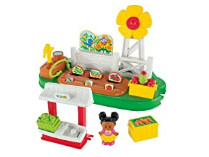 Fisher-Price Little People Growing Garden and Farm Stand Playset by Fisher-Price Little People
