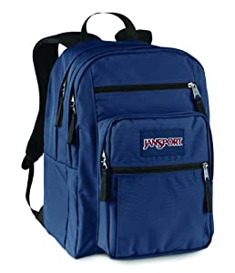 Jansport Big Student Rucksack - Navy, 44x33x25 cm