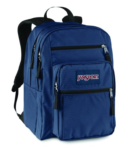 Jansport Big Student Backpack (Navy) front-127965