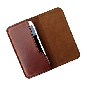 i-KitPit : PU Leather Flip Pouch Case Cover For iBall Andi 3.5K KE+ (BROWN)