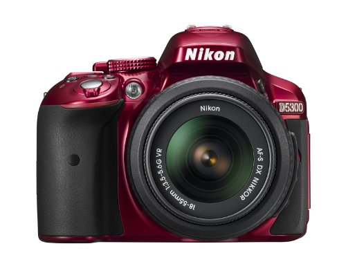 Nikon-D5300-242MP-Digital-SLR-Camera-Red-with-18-55mm-VR-Lens-Kit