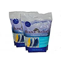 2 Pack (7.5 lbs.)- Bubble Bandit Dishwasher Detergent with Phosphate. ALL-IN-ONE.  Eliminates limescale buildup, white film and water spots in hard water! FREE SHIPPING at CHECKOUT.