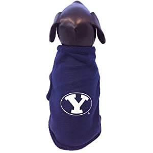NCAA Brigham Young University Cougars Collegiate Polar Fleece Dog Sweatshirt (Small) by All Star Dogs