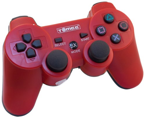PS3 Tomee Wireless Controller - Red