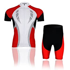 Buy Baleaf Mens Short Sleeve Cycling Jersey Red Passion Style by Baleaf
