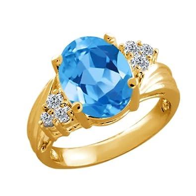 """Sterling Silver 1 CT TGW ciel Topaze Bleue et Diamant Cœur Collier Pendentif 18/"""""""