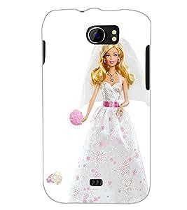 PrintDhaba Barbie Princess D-1028 Back Case Cover for MICROMAX A110Q CANVAS 2 PLUS (Multi-Coloured)