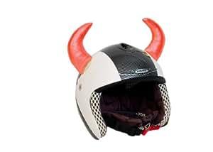 cornes de diable rouge attach d coration de casque auto et moto. Black Bedroom Furniture Sets. Home Design Ideas