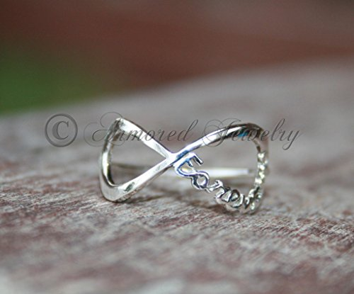 Our Love is Forever - Infinity ring - Sterling silver - Infinity - Infinite Love