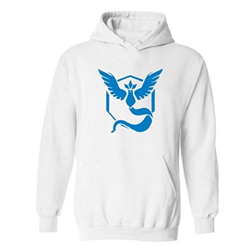 [Sportingwear Pokemon GO Team Mystic Logo Hoodie Cosplay Costume Pullover Sweater] (Snorlax Costume Dress)