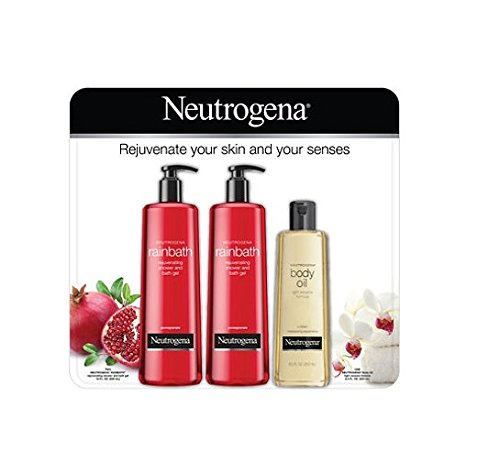 Neutrogena Pomegranate Rainbath Shower Gel and Body Oil Multi-Pack (2-16 fl. oz. and 1-8.5 fl. oz.)