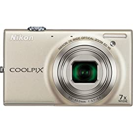Nikon Coolpix S6100 Digital Camera (Silver)