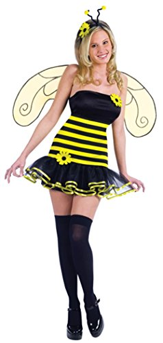 Funworld Womens Sexy Fantasy Honey Bee Deluxe Bumble Insects Halloween Costume