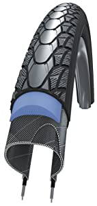 Schwalbe Marathon Plus HS 348 Road Bike Tire (700x28, Allround Wire Beaded, Reflex)