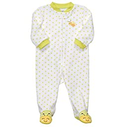 Carters Easy Entry Sleep N Play Turn Me Around - White/Green - 9 Months