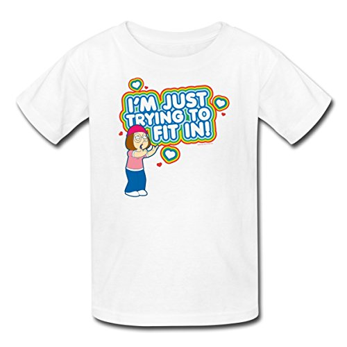 Family guy meg trying to fit in kids 39 t shirt by for I run for meg shirts