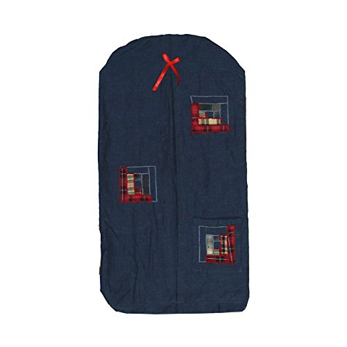 Patch Magic 12-Inch by 23-Inch Red Log Cabin Diaper Stacker - 1