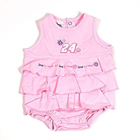 nascar baby clothes #24 Jeff Gordon Newborn Pink Dress