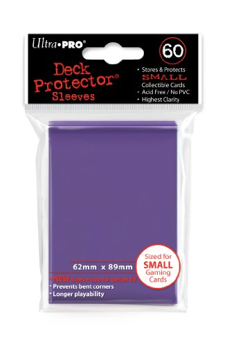 Ultra Pro Card Supplies YUGIOH Deck Protector Sleeves Purple 60 Count