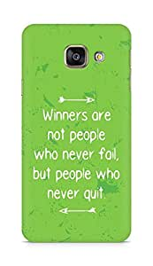AMEZ but people who never quit Back Cover For Samsung Galaxy A3 (2016 EDITION)