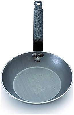 Mauviel Msteel Steel Handled Heavy Round Frying Pan 12.5 In.