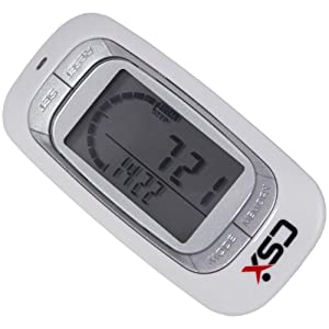 CSX Walking 3D Pedometer with Clip and Strap & eBook - Accurate Step Counter, Distance Miles and Km, Calorie Counter, Daily Target Progress Monitor, 7 Day Memory, Exercise Time - White - with Tri-Axis Stepometer Technology | 18 Month Warranty