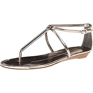 DV by Dolce Vita Women's Archer Sandal,Dark Silver Flash,8 M US