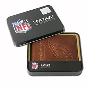 NFL Arizona Cardinals Embossed Genuine Cowhide Leather Passcase