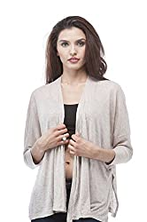 Light weight open front batwing cardigan (Small, Oatmeal)