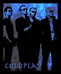 10 am Coldplay Framed Wall art (blue) (With Glass)