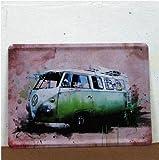 Volkswagen Combi Bus Car Tin Sign Metal Plate Garage Decor 15*20Cm