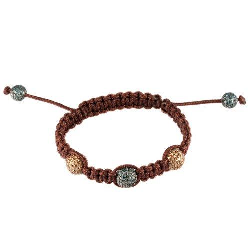 Kipitok Blue Chocolate Diamond Macrame Bracelet
