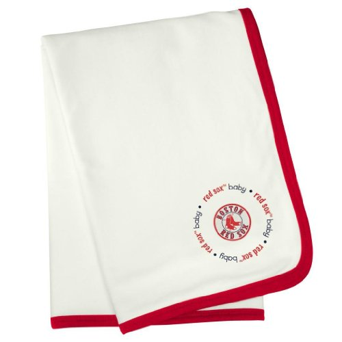 """Boston Red Sox Receiving Blanket 24""""X36"""" front-827881"""