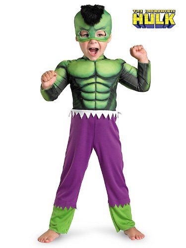 Hulk Muscle Toddler Costume Size Small (2T)