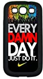Nike Just Do It Colorful Custom Cell Phone Case Cover for Samsung Galaxy S3 - Black