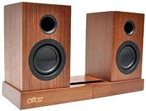 Altaz AZWB100BTS Micro-Fi Bluetooth Stereo Speaker (Natural Brown Wood)