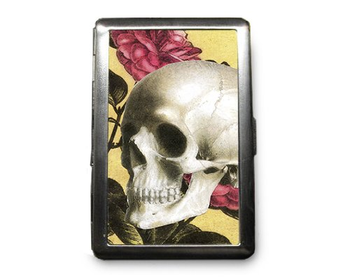 Day of the Dead Skull Decorated ID Cigarette Case Wallet - CD303