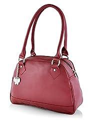Butterflies Women's Handbag (Maroon) (BNS 0592MRN)