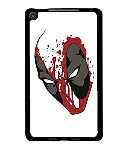 PrintDhaba Mask D-5125 Back Case Cover for ASUS GOOGLE NEXUS 7 2013 (Multi-Coloured)
