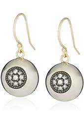 Mizuki Silver and Gold Diamond Evil Eye Ball Earrings