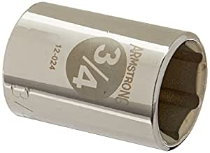 Armstrong 12-024 1/2-Inch Drive 6 Point Standard Socket, 3/4-Inch