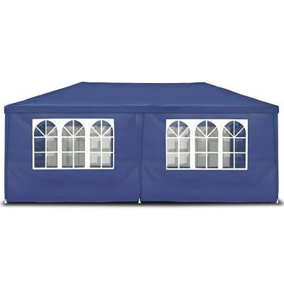 Gartenpavillon 3 x 6 m, blau, Pavillon, Pavillion, Partyzelt, Festzelt, Gartenzelt, mit 6 Seitenwänden 110G PE von JOM Car Parts & Car Hifi GmbH - Gartenmöbel von Du und Dein Garten