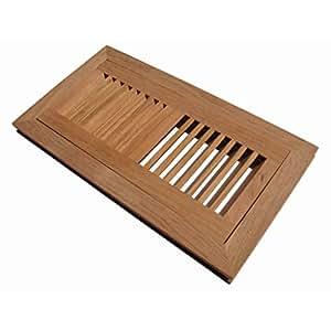 Welland 4 inch x 14 inch brazilian cherry hardwood vent for Wood floor registers 6 x 14