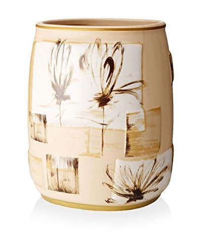 Creative Bath Floral Design Wastebasket, Multi