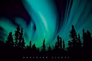 "1art1 Poster 52064 ""Aurore Borealis - Polar Night Stars"" 91 x 61cm"