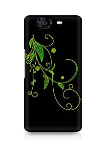 Amez designer printed 3d premium high quality back case cover for Micromax Canvas Knight A350 (Abstract Dark 6)