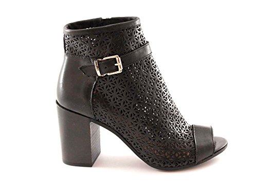 GRUNLAND GIò PO0535 nero scarpe donna stivaletti tronchetti zip punta aperta 37